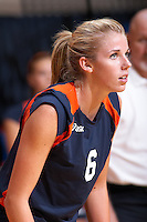 SAN ANTONIO, TX - AUGUST 29, 2006: The Southern Methodist University Mustangs vs. The University of Texas at San Antonio Roadrunners Volleyball at the UTSA Convocation Center. (Photo by Jeff Huehn)