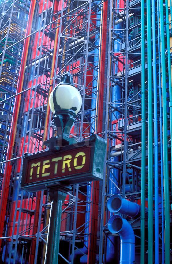 France, Paris, Metro sign