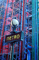 France, Paris, Metro sign