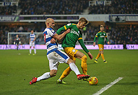 Queens Park Rangers' Toni Leistner and Preston North End's Brad Potts<br /> <br /> Photographer Rob Newell/CameraSport<br /> <br /> The EFL Sky Bet Championship - Queens Park Rangers v Preston North End - Saturday 19 January 2019 - Loftus Road - London<br /> <br /> World Copyright © 2019 CameraSport. All rights reserved. 43 Linden Ave. Countesthorpe. Leicester. England. LE8 5PG - Tel: +44 (0) 116 277 4147 - admin@camerasport.com - www.camerasport.com