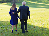 United States President Donald J. Trump and first lady Melania Trump walk on the South Lawn as they depart the White House in Washington, DC, November 3, 2017 for a multi-day trip to Hawaii and then on to Asia. <br /> Credit: Chris Kleponis / CNP /MediaPunch