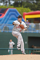 Frederick Keys pitcher Chipper Smith (23) on the mound during a game against the Myrtle Beach Pelicans at Ticketreturn.com Field at Pelicans Ballpark on April 10, 2016 in Myrtle Beach, South Carolina. Myrtle Beach defeated Frederick 7-5. (Robert Gurganus/Four Seam Images)