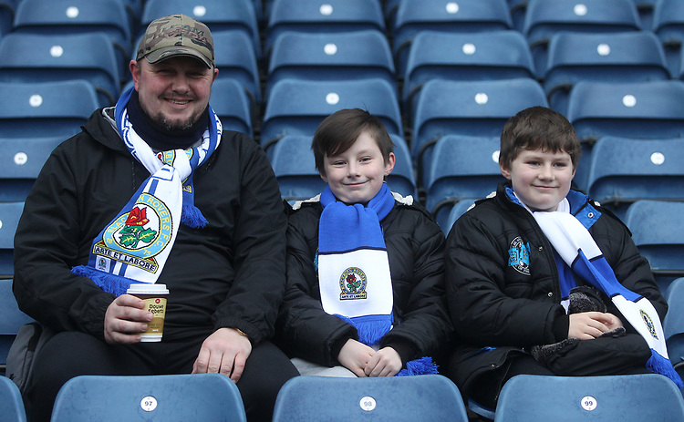 Blackburn Rovers fans await the Kick off<br /> <br /> Photographer Mick Walker/CameraSport<br /> <br /> The EFL Sky Bet Championship - Blackburn Rovers v Ipswich Town - Saturday 19 January 2019 - Ewood Park - Blackburn<br /> <br /> World Copyright &copy; 2019 CameraSport. All rights reserved. 43 Linden Ave. Countesthorpe. Leicester. England. LE8 5PG - Tel: +44 (0) 116 277 4147 - admin@camerasport.com - www.camerasport.com
