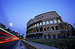 ROME, ITALY - MAY: A general view of the famous Roman Coliseum in May of 2001 in Rome, Italy (Photo By Donald Miralle)