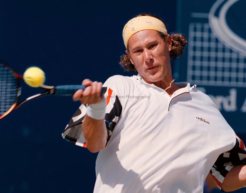 Photo. Steve Holland.Australian Open at Melbourne. 1995..Niklas Kulti
