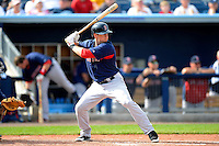 Boston Red Sox outfielder Daniel Nava #29 during a Grapefruit League Spring Training game against the Tampa Bay Rays at Charlotte County Sports Park on February 25, 2013 in Port Charlotte, Florida.  Tampa Bay defeated Boston 6-3.  (Mike Janes/Four Seam Images)