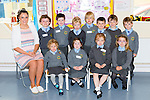 Junior infants on the first day at school in Cullina NS Beaufort on Monday front row l-r: Alice Eager, Alia McLaughlin, Nessa O'Donoghue, Emma Casey. Back row: Seodhna Cronin teacher, Darragh Doyle, Callum Wakeman, Oliver Thompson, Luke Foley, Daragh O'Sullivan, Adam Galvin and Benen O'Rourke
