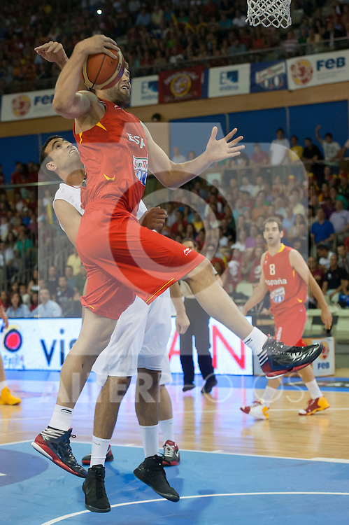 Spain's  Felipe Reyes  during Spain vs Tunisia friendly match in Salamanca. July 13,2012.(ALTERPHOTOS/Ricky)