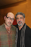 Sopranos John Ventimiglia and Vincent Pastore pose at Chiller Theatre's Spring Spooktacular on the weekend of April 27-29 at the Hilton Parsippany in Parsippany, New Jersey. (Photo by Sue Coflin/Max Photos)