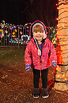 Allie at holiday lights, Dominion GardenFest of Lights at Lewis Ginter Botanical Garden in Richmond, Virginia, USA