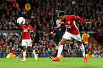 Jesse Lingard of Manchester United fires a header at goal during the UEFA Europa League match at Old Trafford Stadium, Manchester. Picture date: September 29th, 2016. Pic Matt McNulty/Sportimage