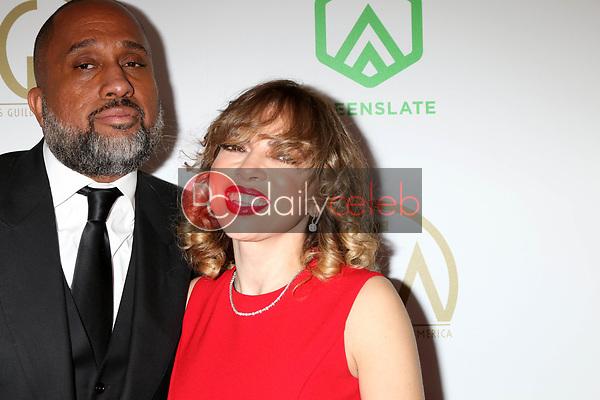 Kenya Barris, Rainbow Edwards-Barris<br /> at the 2019 Producer's Guild Awards, Beverly Hilton Hotel, Beverly Hills, CA 01-19-19<br /> David Edwards/DailyCeleb.com 818-249-4998