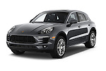 2018 Porsche Macan S 5 Door SUV Angular Front stock photos of front three quarter view