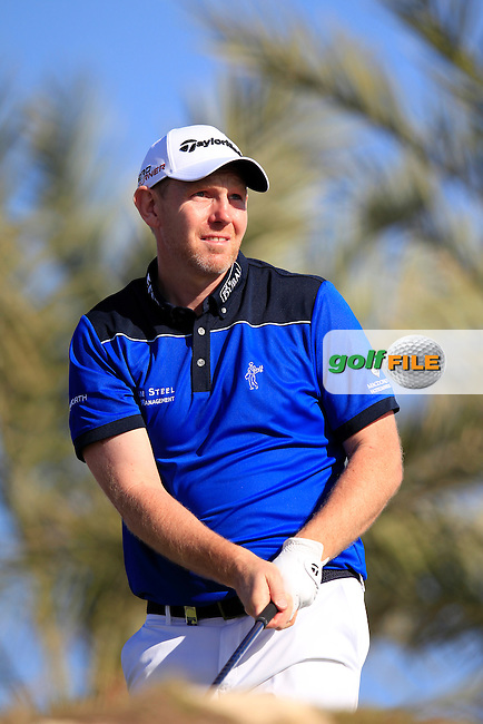Stephen GALLACHER (SCO) tees off the 11th tee during Thursday's Round 2 of the 2015 Commercial Bank Qatar Masters held at Doha Golf Club, Doha, Qatar.: Picture Eoin Clarke, www.golffile.ie: 1/22/2015