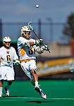 19 March 2011: University of Vermont Catamount Defender Granger Jewett, a Senior from Summit, NJ, in action against the St. John's University Red Storm at Moulton Winder Field in Burlington, Vermont. The Catamounts defeated the visiting Red Storm 14-9. Mandatory Credit: Ed Wolfstein Photo