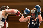 February 3, 2012:   Nevada boxer Nick Anderson, right, fights against Air Force Academy boxer Dennis Vorobyov in the 175 weight class match held at the Eldorado Convention Center on Friday night in Reno, Nevada.