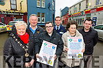 Launching the Killorglin Text Alert were Mary McGillicuddy, Francis McCaffrey, Tommy McGillicuddy, Mike Quirke, Helen O'Shea and Cllr John Francis O'Sullivan.