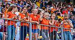 Den Bosch  - Jeugdige supporters   voor   de Pro League hockeywedstrijd heren, Nederland-Belgie (4-3).    COPYRIGHT KOEN SUYK