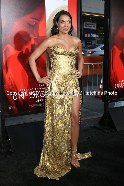 """LOS ANGELES - APR 18:  Rosario Dawson at the """"Unforgettable"""" Premiere at TCL Chinese Theater IMAX on April 18, 2017 in Los Angeles, CA"""