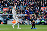 FC Barcelona's Clement Lenglet and Real Madrid's Gareth Bale during La Liga match between FC Barcelona and Real Madrid at Camp Nou Stadium in Barcelona, Spain. October 28, 2018. (ALTERPHOTOS/A. Perez Meca)