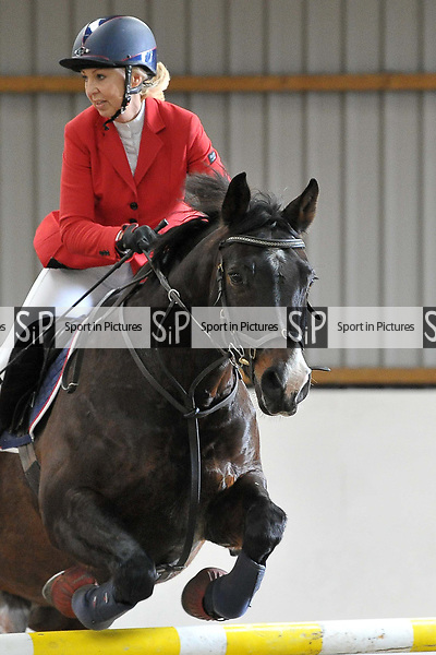 Classes 3 and 4. Area 40 British showjumping christmas show. Seniors. Brook Farm Training Centre. Essex. UK. 02/12/2018. ~ MANDATORY Credit Garry Bowden/Sportinpictures - NO UNAUTHORISED USE - 07837 394578
