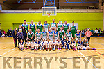 A Charity Basketball game was held in Colaiste na Sceilge on Saturday with players from Cahersiveen BB Club joining Kieran Donaghy and the Tralee Warriors for a great display of Basketball pictured here with the Cahersiveen U10's side, all money raised from the event going to Recovery Haven & Downs Syndrome Ireland.