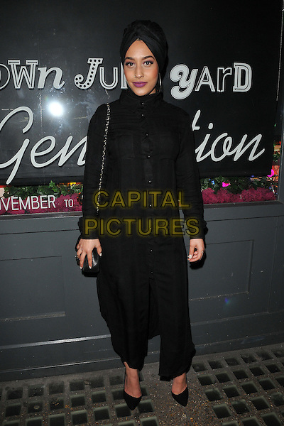 Mariah Idrissi attends the Notion magazine issue 71 launch party, Lights of Soho, Brewer Street, London, UK, on Friday 18 December 2015.<br /> CAP/CAN<br /> &copy;Can Nguyen/Capital Pictures