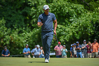 Brooks Koepka (USA) sinks his par putt on 8 during round 4 of the Fort Worth Invitational, The Colonial, at Fort Worth, Texas, USA. 5/27/2018.<br /> Picture: Golffile | Ken Murray<br /> <br /> All photo usage must carry mandatory copyright credit (© Golffile | Ken Murray)