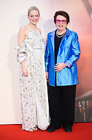 "Emma Stone and Billie Jean King<br /> arriving for the London Film Festival 2017 screening of ""Battle of the Sexes"" at the Odeon Leicester Square, London<br /> <br /> <br /> ©Ash Knotek  D3322  07/10/2017"