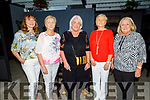 Michelle Walsh (Ballymac), Ann Cotter (Knocknagoshel), Carmel Prenderville (Castleisland), Kathleen Granville (Castleisland) and Bernie Fitzgerald (Tralee) attending the O'Riada's Dinner & Intimate Gig with Sharon Shannon on Friday evening