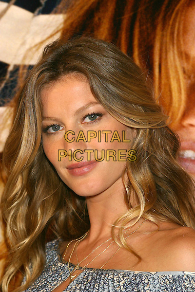 "GISELE BUNDCHEN.Victoria's Secret ""Sexy Volume 3: A Tribute to a Decade of Sexy Swimwear"" Launch Party, Milk Studios, New York City, USA, April 5th 2005..portrait headshot.Ref: IW.www.capitalpictures.com.sales@capitalpictures.com.©Ian Wilson/Capital Pictures."