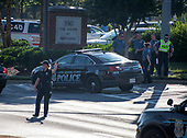 Crime scene investigation at 888 Bestgate Road; Annapolis, Maryland where a shooter opened fire at the Capital Gazette newspaper killing five people and injuring many others on Thursday, June 28, 2018.<br /> Credit: Ron Sachs / CNP<br /> (RESTRICTION: NO New York or New Jersey Newspapers or newspapers within a 75 mile radius of New York City)