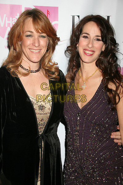 "KATHLEEN WILHOITE & MAGGIE WHEELER.""What A Pair!"" 5th Annual Celebrity Concert to Benefit the John Wayne Cancer Institute at the Orpheum Theatre, Los Angeles, California, USA..June 3rd, 2007.half length black coat purple beads beaded  dress.CAP/ADM/BP.©Byron Purvis/AdMedia/Capital Pictures"