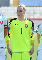 20180307 - LARNACA , CYPRUS : Czech Barbora Votikova pictured during a women's soccer game between  Slovakia and the Czech Republic , on Wednesday 7 March 2018 at the GSZ Stadium in Larnaca , Cyprus . This is the final game in a decision for 9 th or 10 th place of the Cyprus Womens Cup , a prestigious women soccer tournament as a preparation on the World Cup 2019 qualification duels. PHOTO SPORTPIX.BE | DAVID CATRY