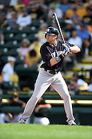 New York Yankees Jake Cave (93) during a Spring Training game against the Pittsburgh Pirates on March 5, 2015 at McKechnie Field in Bradenton, Florida.  New York defeated Pittsburgh 2-1.  (Mike Janes/Four Seam Images)