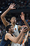 Real Madrid Walter Tavares and Fenerbahce Dogus Melih Mahmutoglu  during Turkish Airlines Euroleague match between Real Madrid and Fenerbahce Dogus at Wizink Center in Madrid , Spain. March 02, 2018. (ALTERPHOTOS/Borja B.Hojas)