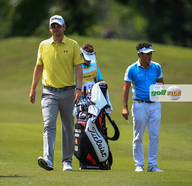 Bernd Wiesberger (GER) on the 7th green during Round 2 of the Maybank Championship on Friday 10th February 2017.<br /> Picture:  Thos Caffrey / Golffile<br /> <br /> All photo usage must carry mandatory copyright credit     (&copy; Golffile | Thos Caffrey)