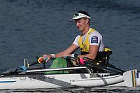Sarasota. Florida USA.AUS PR M1X.Erik HORRIE, Gold Medal.ist Sunday Final's Day at the  2017 World Rowing Championships, Nathan Benderson Park<br /> <br /> Sunday  01.10.17   <br /> <br /> [Mandatory Credit. Peter SPURRIER/Intersport Images].<br /> <br /> <br /> NIKON CORPORATION -  NIKON D500  lens  VR 500mm f/4G IF-ED mm. 200 ISO 1/1600/sec. f 7.1