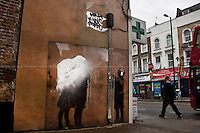 "Banksy's ""Tesco Bag"" after the Team Robbo's retouch...<br />