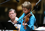 Jacob Bainton, 12, performs in the Carson City Symphony's Youth Strings Summer Program concert in Carson City, Nev., on Thursday, July 27, 2017. <br /> Photo by Cathleen Allison