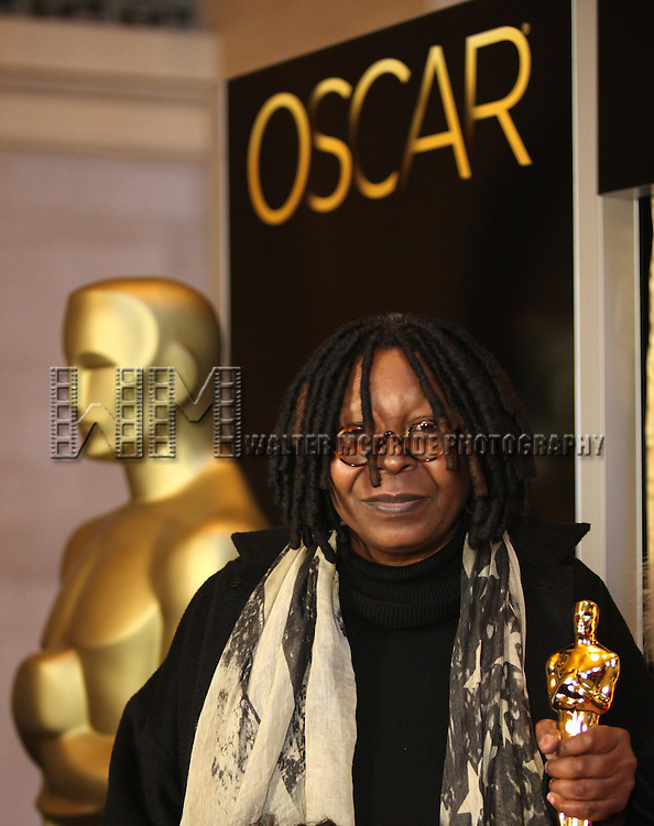 Meet The Oscars New York-Ribbon Cutting with Whoopi Goldberg at Vanderbilt Hall in Grand Central Terminal, New York City.