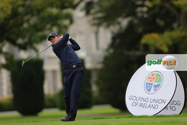 Ronan Mullarney (Galway) during the AIG Senior Cup Final at the 2017 AIG Cups and Shields at Carton House. 23/09/2017.<br /> <br /> Picture: Golffile   Jenny Matthews<br /> <br /> <br /> All photo usage must carry mandatory copyright credit (&copy; Golffile   Jenny Matthews)