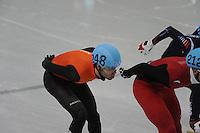 OLYMPICS: SOCHI: Iceberg Skating Palace, 15-02-2014, Short Track, Men's 1000m, Final, Sjinkie Knegt (#248 | NED), ©photo Martin de Jong