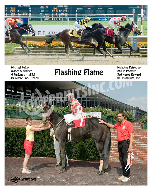 Flashing Flame winning at Delaware Park on 9/6/06