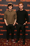 """Fra Fee and Tom Glynn-Carney attend the Meet the Broadway cast of """"The Ferryman"""" during the press photo call on October 4, 2018 at Sardi's in New York City."""
