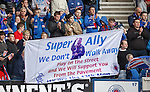 Rangers fans salute the team and manager Ally McCoist