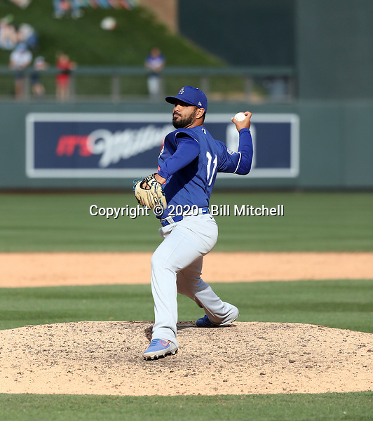 Anthony Vizcaya - Los Angeles Dodgers 2020 spring training (Bill Mitchell)