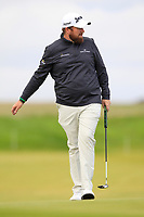Shane Lowry (IRL) on the 4th green during Round 2 of the Alfred Dunhill Links Championship 2019 at Kingbarns Golf CLub, Fife, Scotland. 27/09/2019.<br /> Picture Thos Caffrey / Golffile.ie<br /> <br /> All photo usage must carry mandatory copyright credit (© Golffile | Thos Caffrey)
