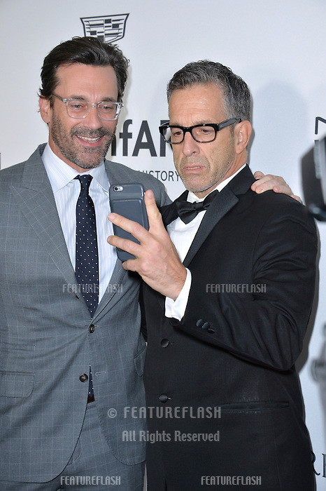 LOS ANGELES, CA. October 27, 2016: Jon Hamm &amp; Kenneth Cole at the 2016 amfAR Inspiration Gala at Milk Studios, Los Angeles.<br /> Picture: Paul Smith/Featureflash/SilverHub 0208 004 5359/ 07711 972644 Editors@silverhubmedia.com