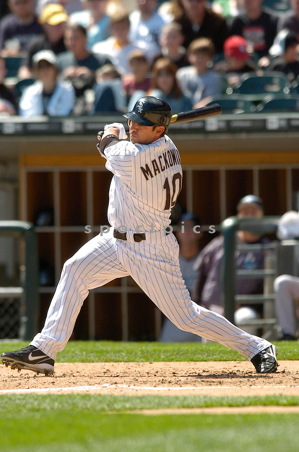 Rob Mackowiak, of the Chicago White Sox, during their game against the Toronto Blue Jay o  April 15, 2006 in Chicago...Sox win 4-2..David Durochik / SportPics